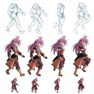 Arashi walking animation demonstration